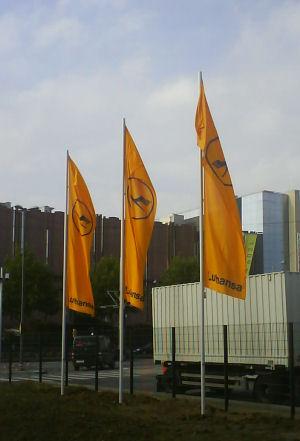lufthansa neues und altes logo
